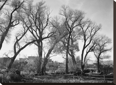 At Taos Pueblo National Historic Landmark, New Mexico, ca. 1941-1942 Stretched Canvas Print by Ansel Adams