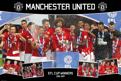 Manchester United- 2017 Efl Cup Winners Prints