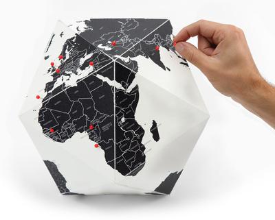 Here - The Personal Globe - Medium, Black Aparte producten