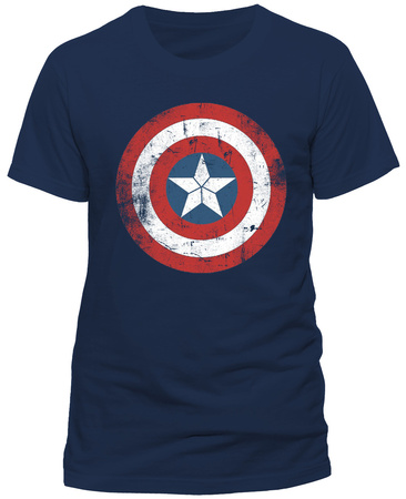 Captain America- Distressed Shield T-shirts