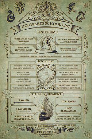 Harry Potter- Hogwarts School List Posters
