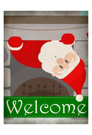 Chimney Santa Posters