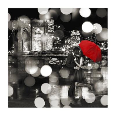 A Kiss in the Night (BW detail) Gicléedruk van Dianne Loumer