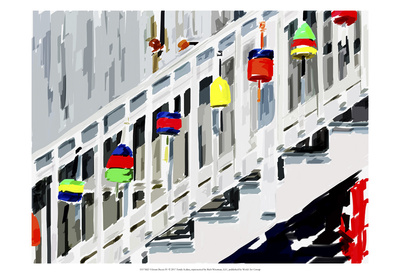 Vibrant Buoys IV Posters by Emily Kalina