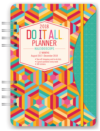 Retro Days 17-Month - 2018 Weekly Planner w/Stickers Calendars