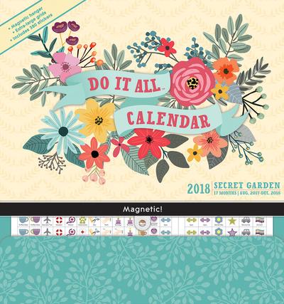 Secret Garden - 2018 Magnetic 17 Month Calendar Calendari