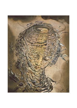 Exploding Raphaelesque Head Posters by Salvador Dali