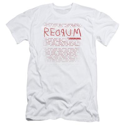 The Shining/Redrum Scrawl Slim Fit T-shirts