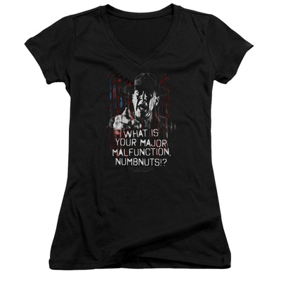 Juniors: Full Metal Jacket/What Is You Malfunction Numbnuts V-Neck Womens V-Necks
