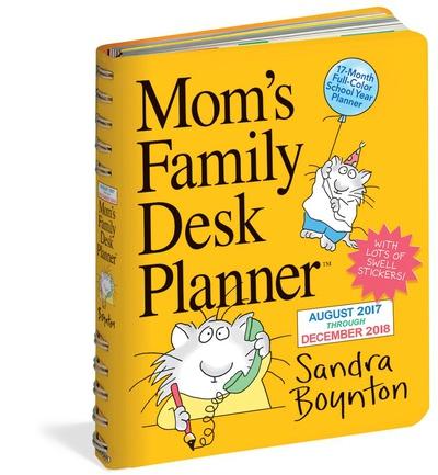 Mom's Family Desk Planner - 2018 Planner Calendari
