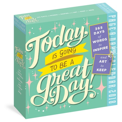 Today Is Going To Be A Great Day! Color Page-A-Day - 2018 Boxed Calendar Calendari