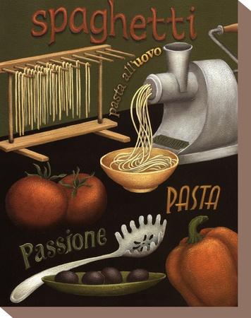 Spaghetti Opspændt lærredstryk af Daphne Brissonnet
