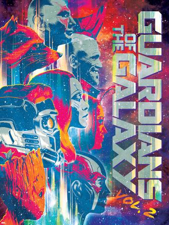 Guardians of the Galaxy: Vol. 2 - Rocket Raccoon, Drax, Yondu, Star-Lord, Gamora, Mantis, Groot Plakater