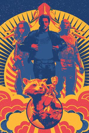 Guardians of the Galaxy: Vol. 2 - Gamora, Star-Lord, Drax, Rocket Raccoon, Groot, the Milano Poster