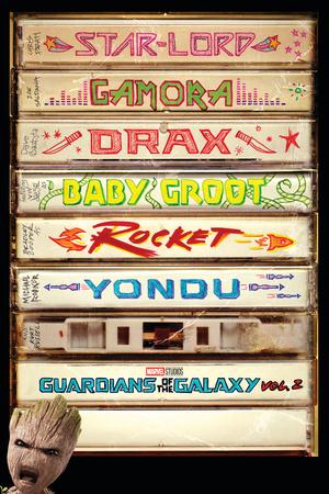 Guardians of the Galaxy: Vol. 2 - Lord, Gamora, Drax, Groot, Rocket Raccoon, Yondu Plakat