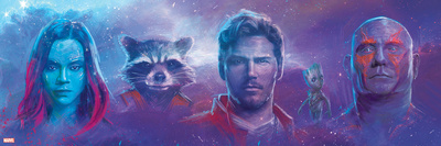 Guardians of the Galaxy: Vol. 2 - Gamora, Rocket Raccoon, Star-Lord, Groot, Drax Posters