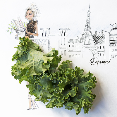Kale Kouture Prints by Meredith Wing
