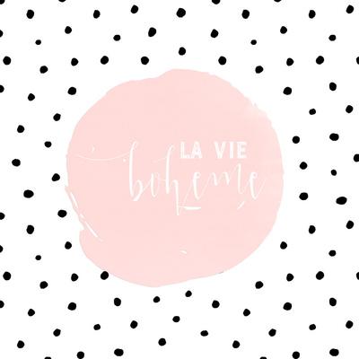 Boheme-Typography Dots Illustration Shabby Prints by  Grab My Art