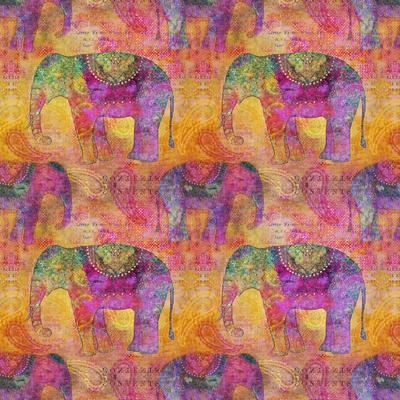 Elephants - Square Poster by  Lebens Art