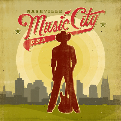 Music City Poster by  Anderson Design Group