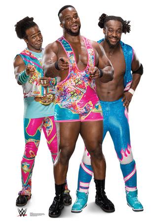 New Day - Big E, Kofi and Xavier - WWE Cardboard Cutouts