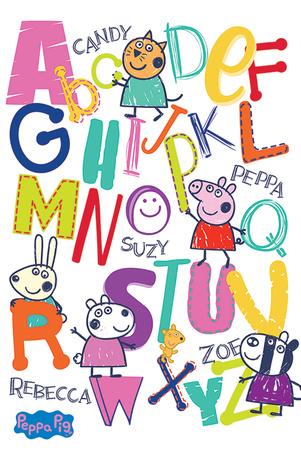 Peppa Pig - Alphabet Láminas