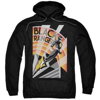 Hoodie: Power Rangers- Black Ranger Deco Pullover Hoodie