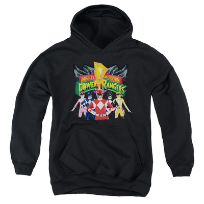 Youth Hoodie: Power Rangers- Rangers Unite Pullover Hoodie