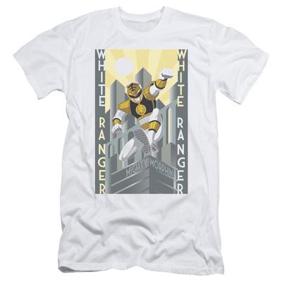 Power Rangers- White Ranger Deco Slim Fit T-Shirt