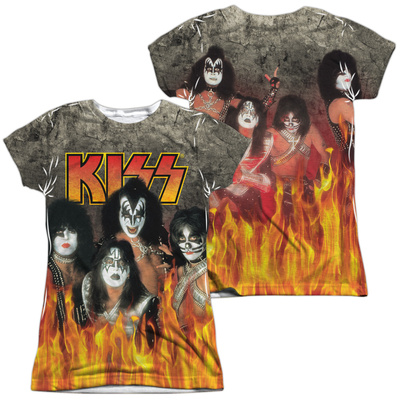 Juniors: Kiss- Through The Fire (Front/Back) Womens Sublimated