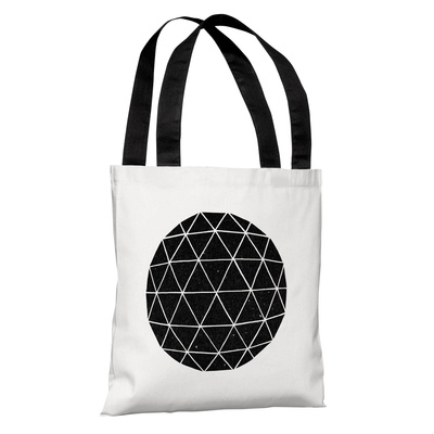Geodesic - Black Tote Bag by Terry Fan Tote Bag