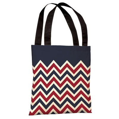 Chevron Solid American Tote Bag by OBC Tote Bag