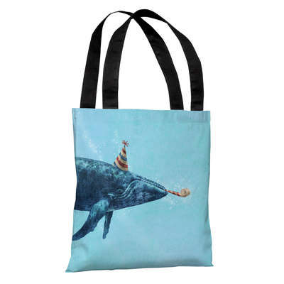 Party Whale - Multi Tote Bag by Terry Fan Tote Bag