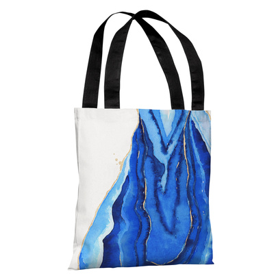 Bold Formations - Blue - Blue Tote Bag by lezleelliott Tote Bag by lezleeliott