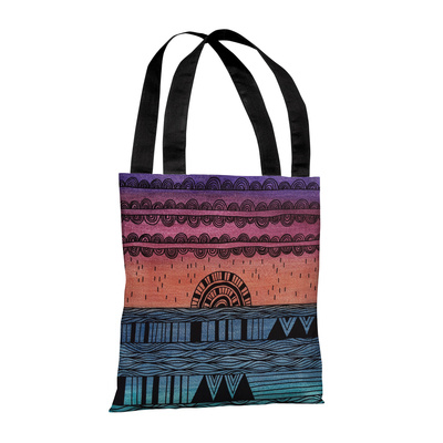 Sunshine Through the Rain Multi - 18' Polyester Tote by Susan Claire Tote Bag by Susan Claire