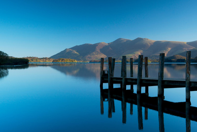 A View Toward Skiddaw Mountain over Derwent Water from the Jetty Photographic Print by Ellen Rooney