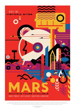 NASA/JPL: Visions Of The Future - Mars Poster