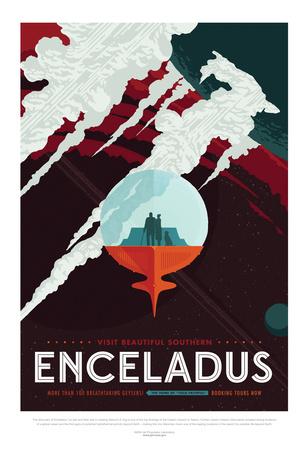 NASA/JPL: Visions Of The Future - Enceladus Prints