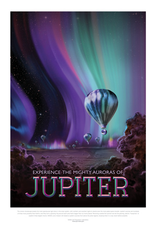 NASA/JPL: Visions Of The Future - Jupiter Kunstdrucke