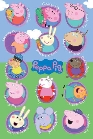 Peppa Pig - Multi Characters Pósters