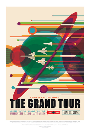 NASA/JPL: Visions Of The Future - Grand Tour Stampe