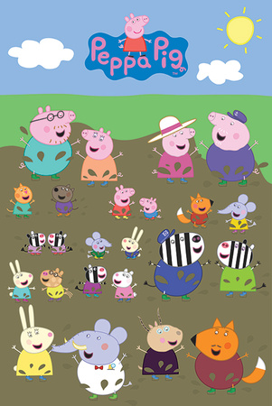 Peppa Pig - Characters Muddy Puddle Póster