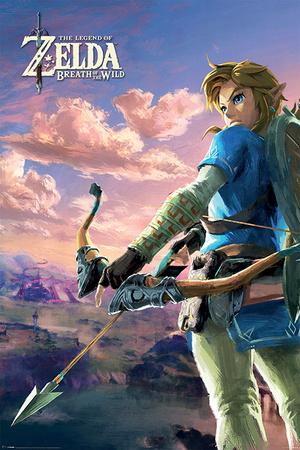 The Legend Of Zelda: Breath Of The Wild - Hyrule Scene Landscape Affischer