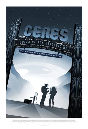 NASA/JPL: Visions Of The Future - Ceres Poster