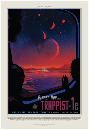 NASA/JPL: Visions Of The Future - Trappist Planscher