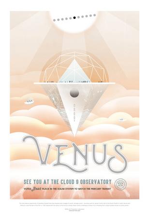 NASA/JPL: Visions Of The Future - Venus Poster