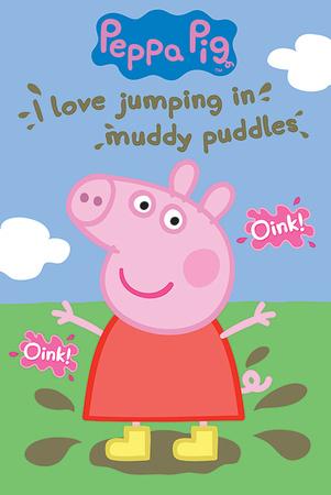Peppa Pig - Muddy Puddles Lámina