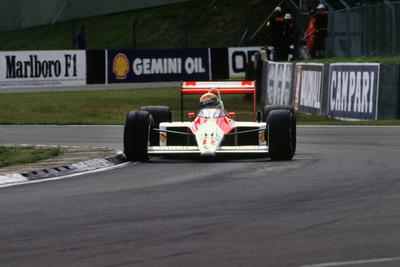 Ayrton Senna in the McLaren MP4-4 1988 British Grand Prix Silverstone Photographic Print