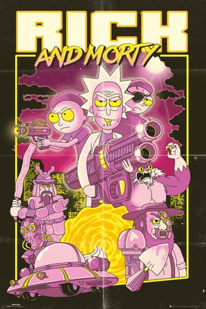 Rick & Morty - Action Movie Prints