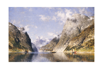 A Norwegian Fjord Giclee Print by Adelsteen Normann